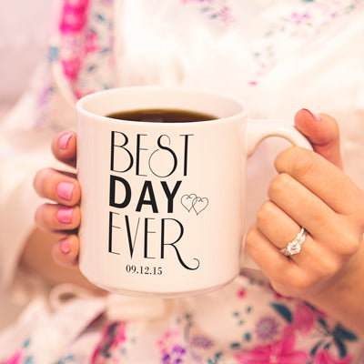 Best Day Ever 20 oz. Large Coffee Mugs (Set of 2)