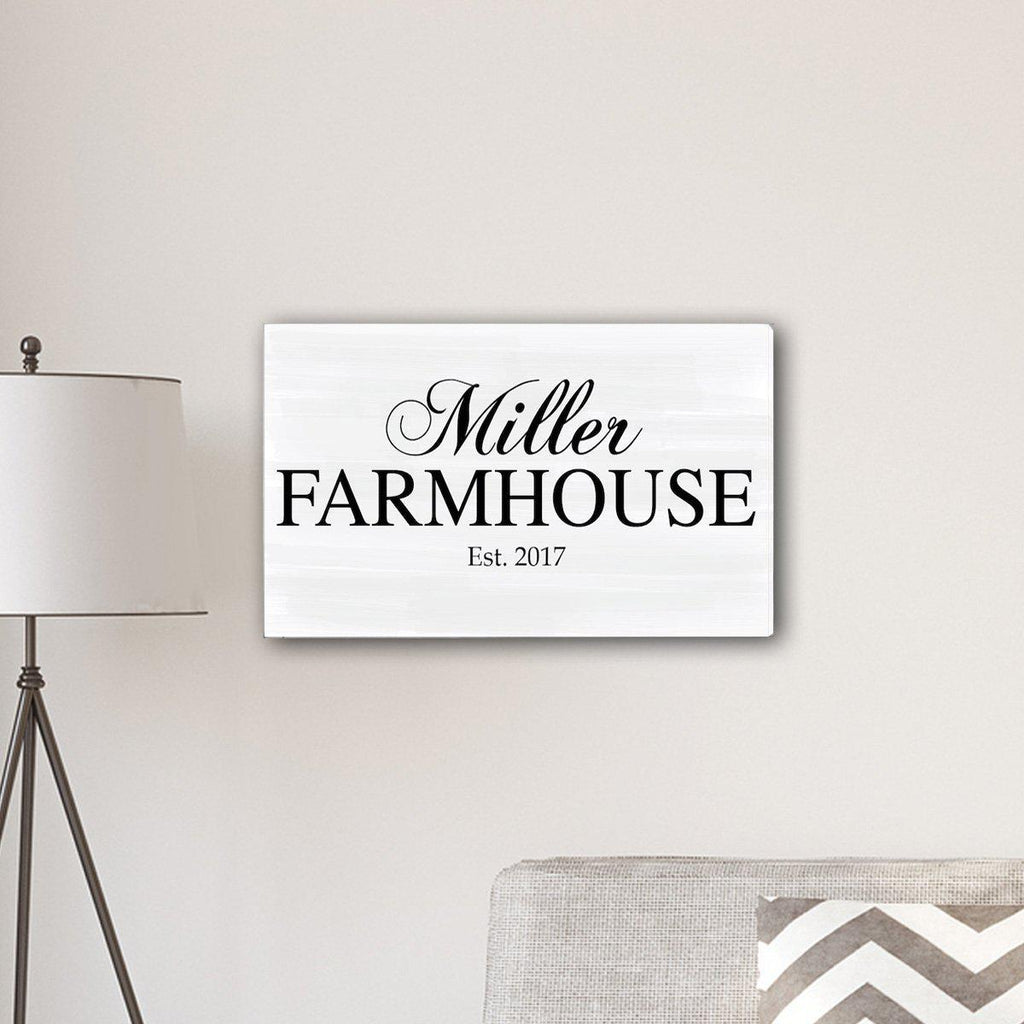 Personalized Family Farmhouse Canvas Sign