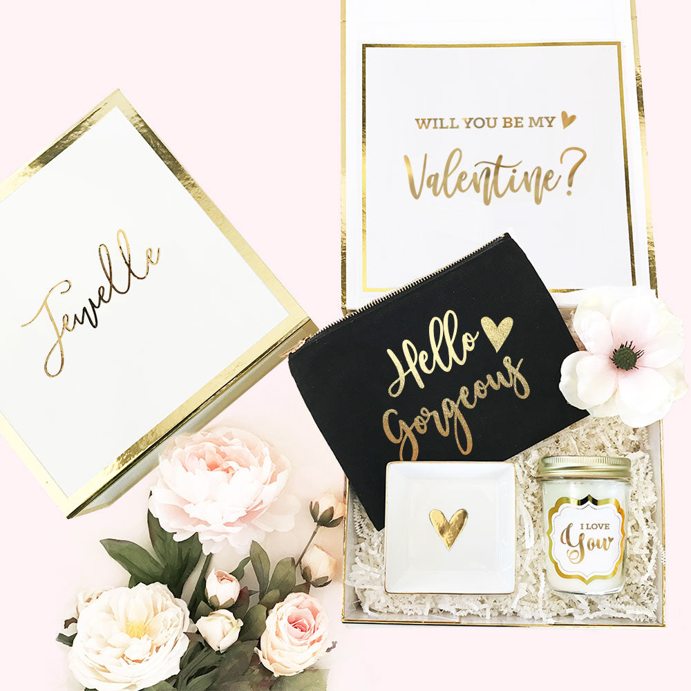 Will You Be My Valentine? Personalized Valentine's Gift Box