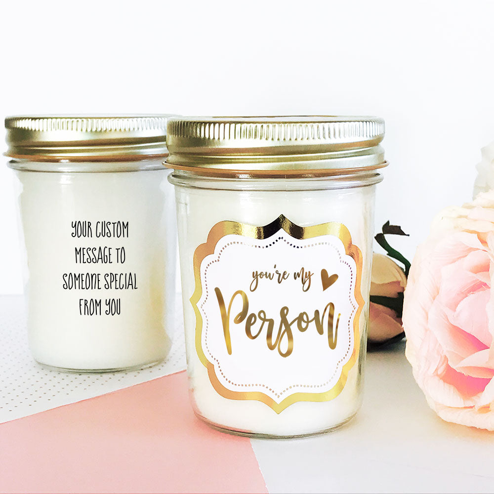 Gold Foil Valentine's Day Candles