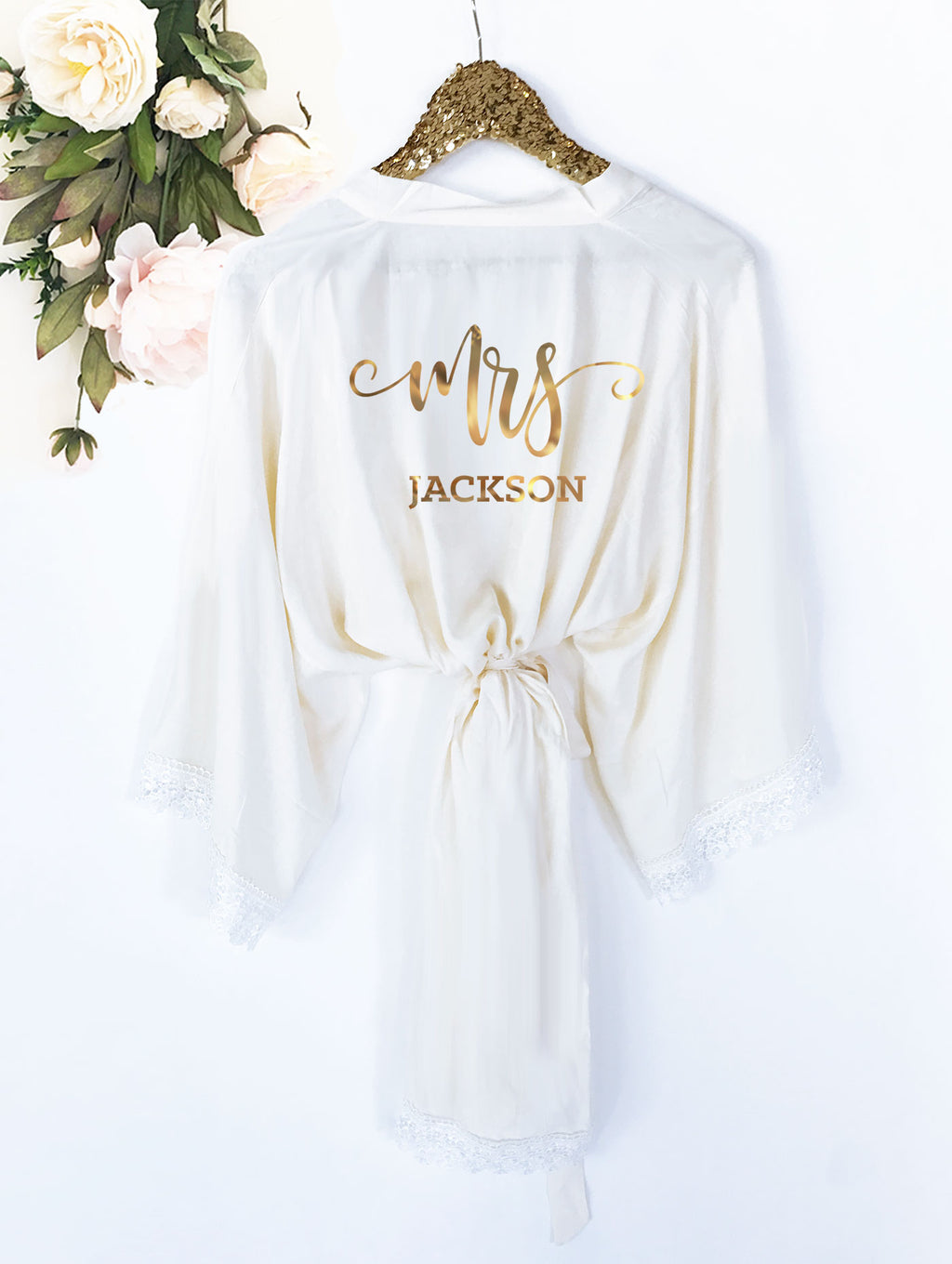 Personalized Mrs. Cotton Lace Robe