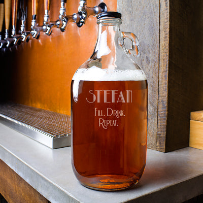 Fill. Drink. Repeat. 64 oz. Craft Beer Growler