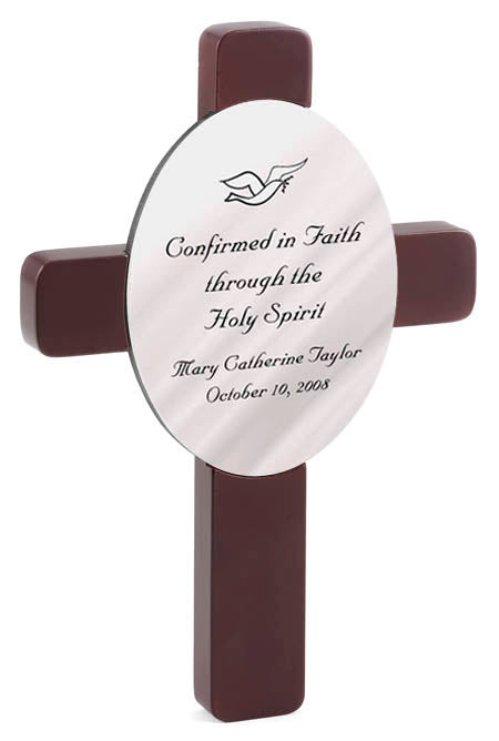 Personalized Confirmation Cross with Bible Verse