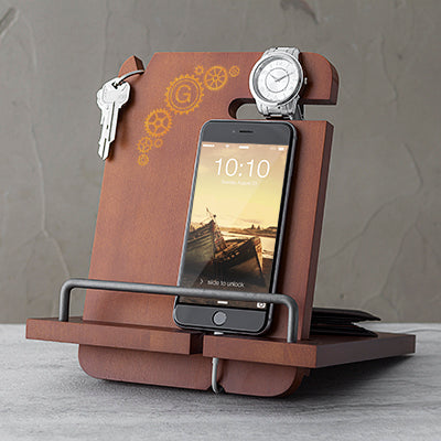Steampunk Wooden Docking Station