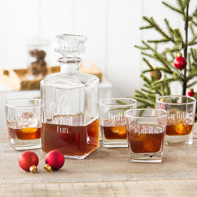 Oh What Fun 5 pc. Holiday Whiskey Decanter Set