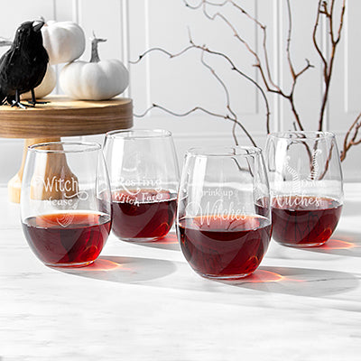 Witch Please! 21 oz. Stemless Wine Glasses