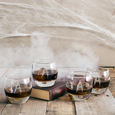 Spooky 10.75 oz. Heavy Based Whiskey Glasses