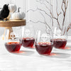 Skull and Crossbones 21 oz. Stemless Wine Glasses