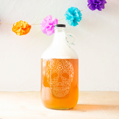 Sugar Skull 64 oz. Craft Beer Growler