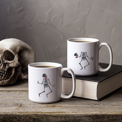 Dancing Skeletons Large 20 oz. Coffee Mug Set