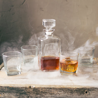 Full of Boos 5 pc. Halloween Whiskey Decanter Set
