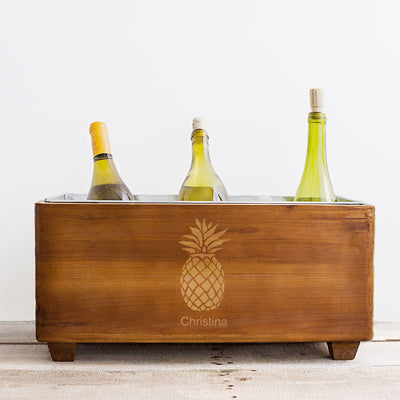 Pineapple Wooden Wine Trough