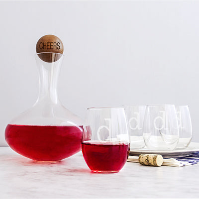 Wine Decanter & Glass Set