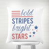 "Stars and Stripes 16"" Throw Pillow"