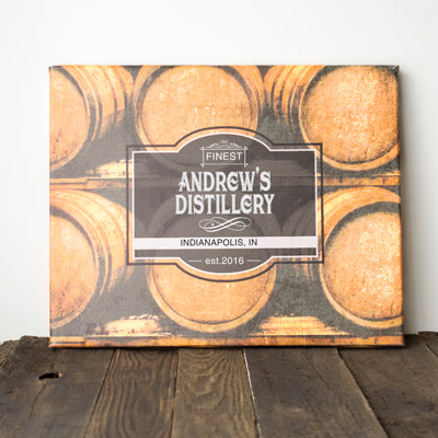 Whiskey Barrel Gallery Wrapped Canvas