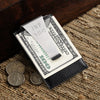 Leather Money Clip & Card Holder