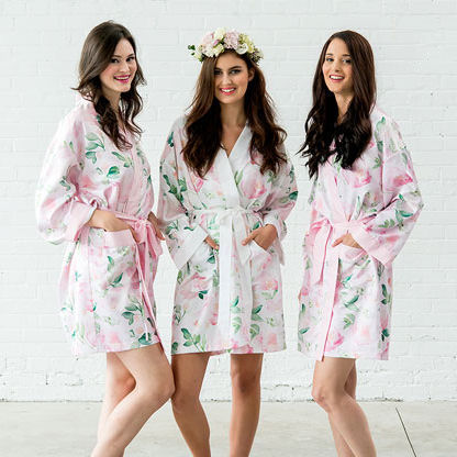 Personalized Silk Bridesmaid Robes