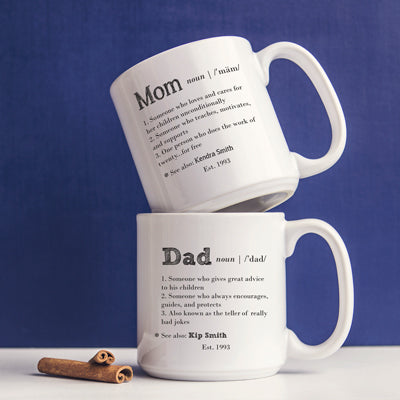 Personalized 20 oz. Parent Definition Large Coffee Mugs (Set of 2)