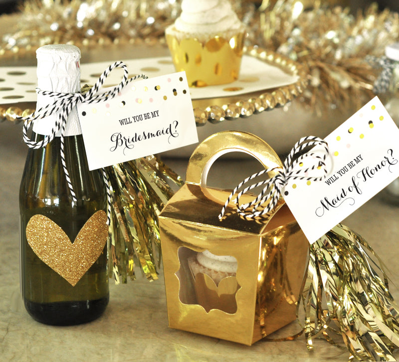 Will You Be My Bridesmaid Tags & Tassels (Set of 6)
