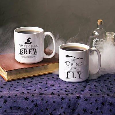 Witches Brew Halloween Coffee Mugs