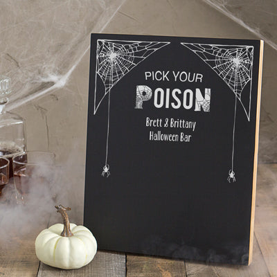Personalized Pick Your Poison Chalkboard
