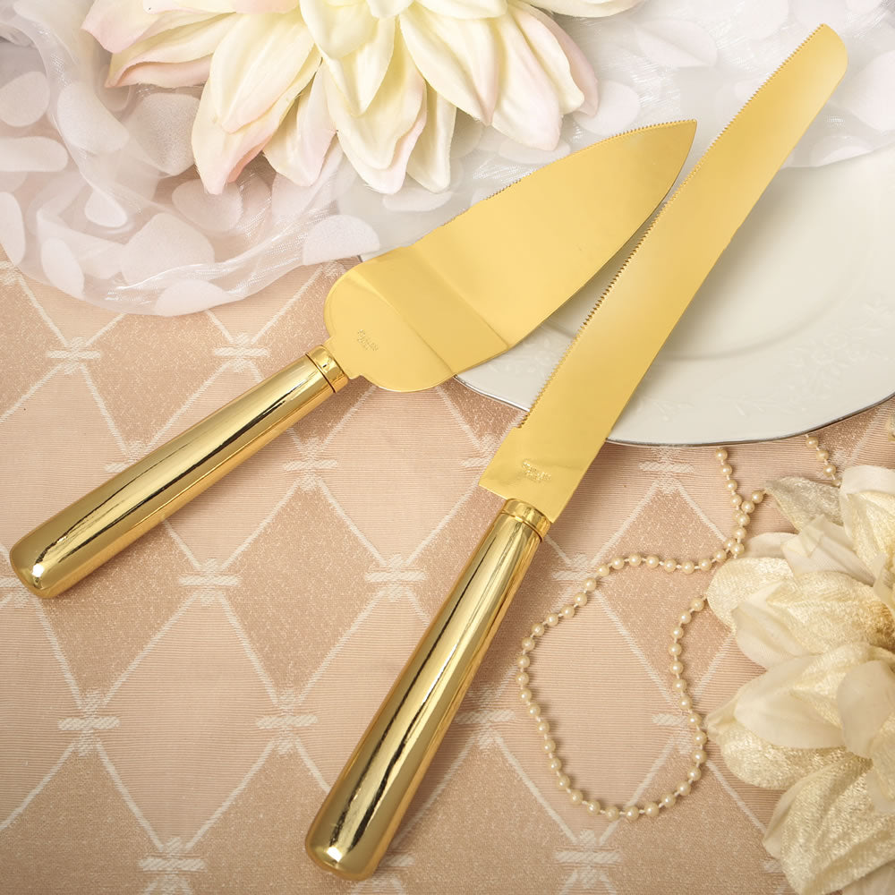 Gold Wedding Cake Server