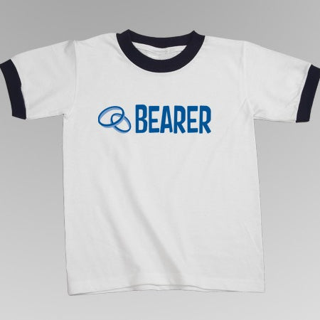 Ring Bearer / Junior Groomsman Logo Ringer Tees (6 Styles)