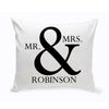Mr and Mrs Personalized Throw Pillow