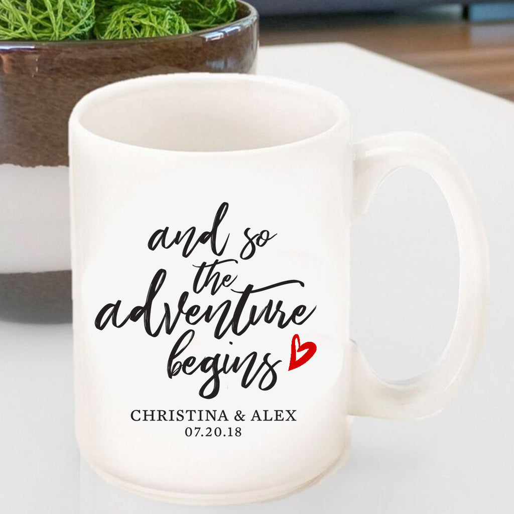 And So The Adventure Begins Personalized Coffee Mug