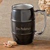 Personalized Stainless Steel and Black Enamel Tankard Mug