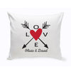 Love and Arrows Personalized Throw Pillow
