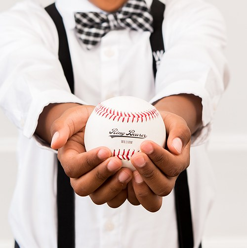 Ring Bearer Printed Baseball Keepsake