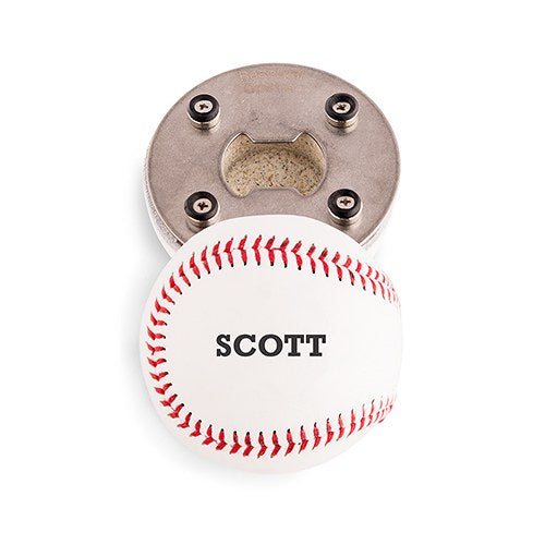 Bold Baseball Bottle Opener