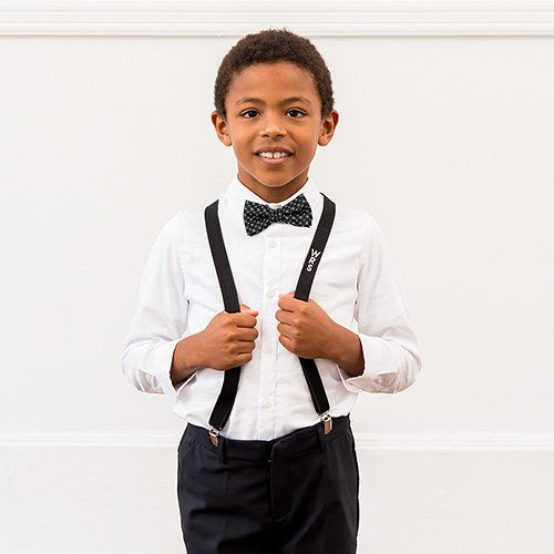 Personalized Boy's Suspender & Bowtie Set