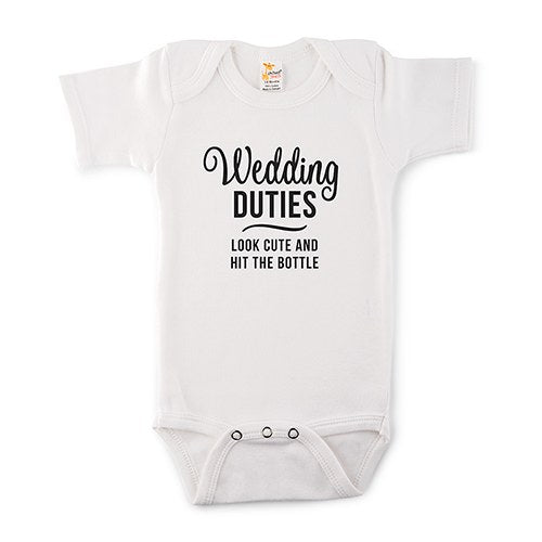 Wedding Duties Onesie