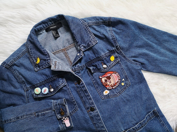 Enamel Pins On Denim