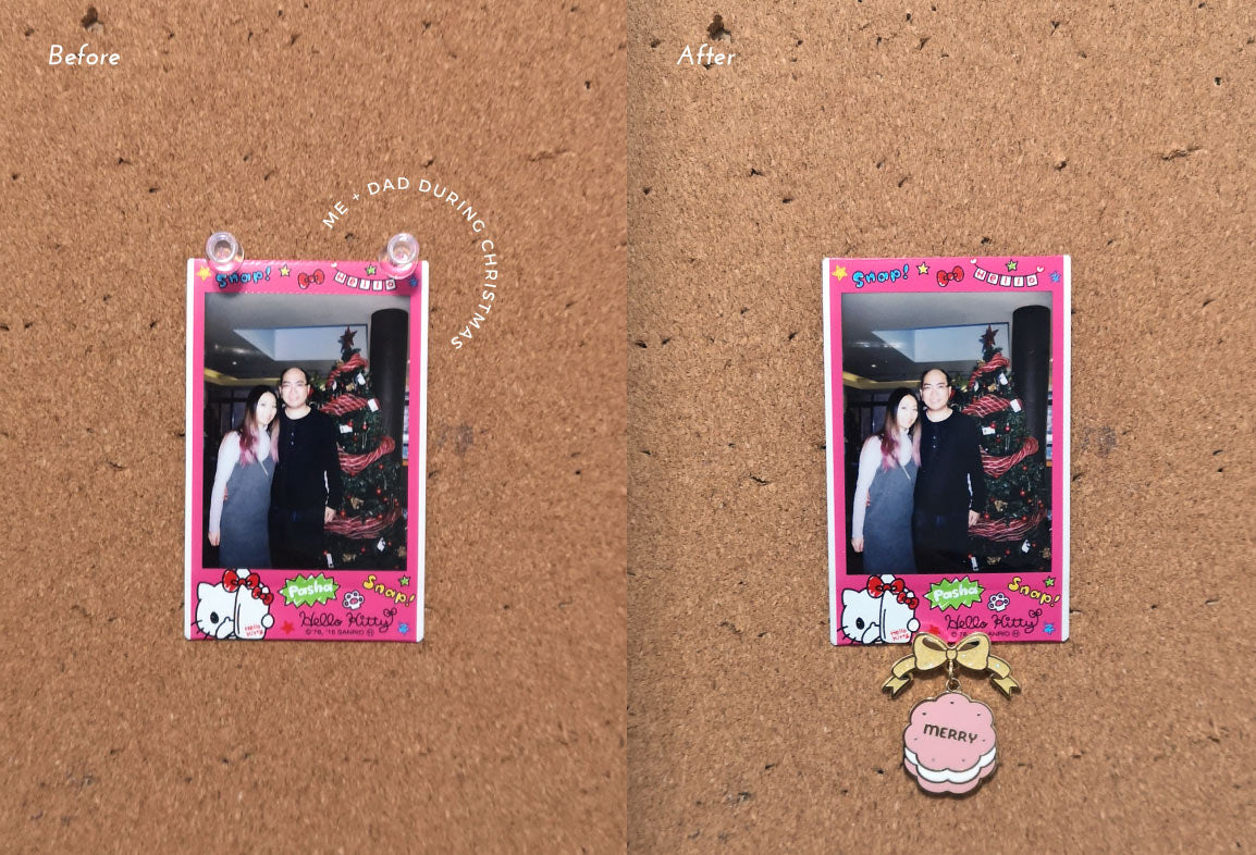 hello kitty polaroid with chanteii enamel pin