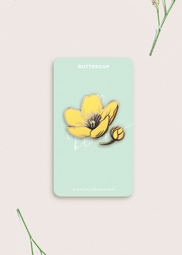 Buttercup Flower Pin