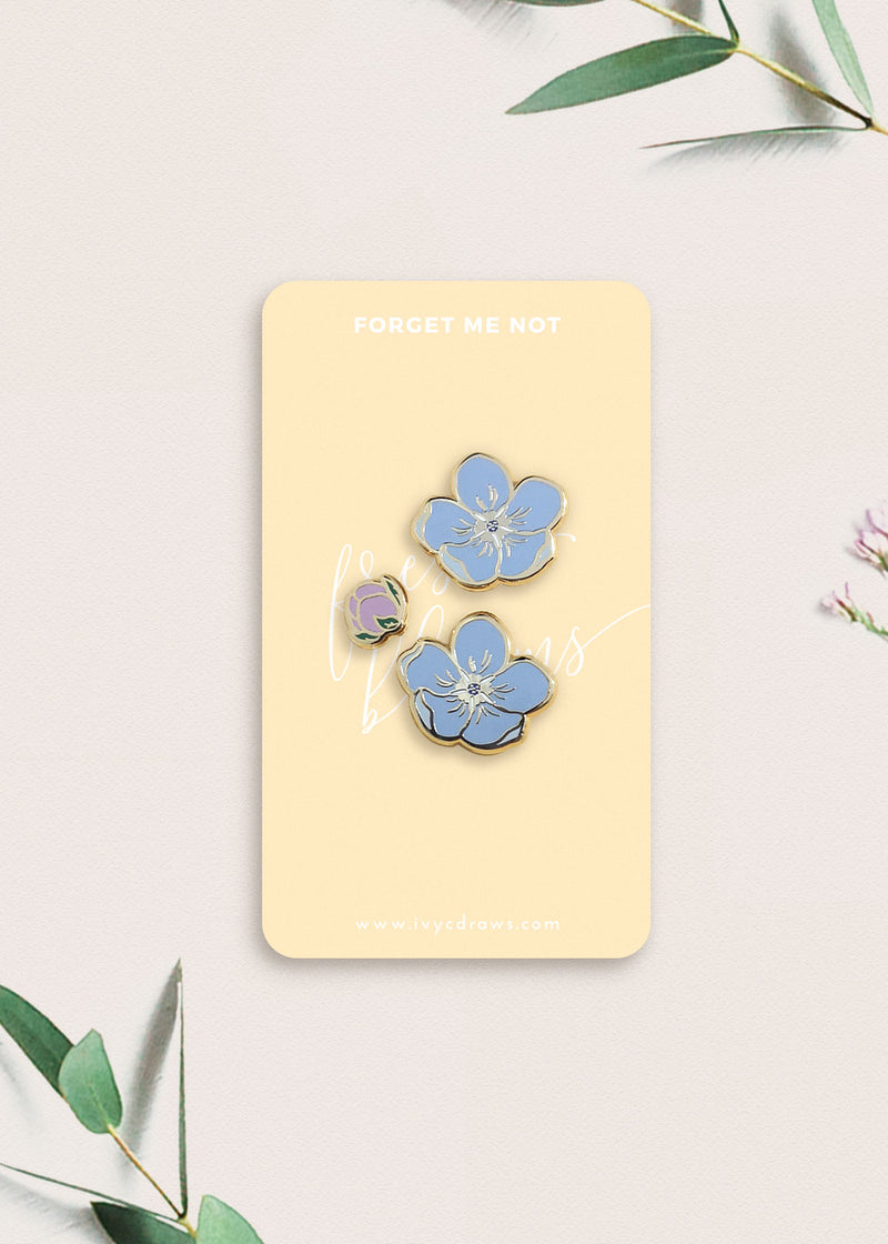 Forget Me Not Flower Pin