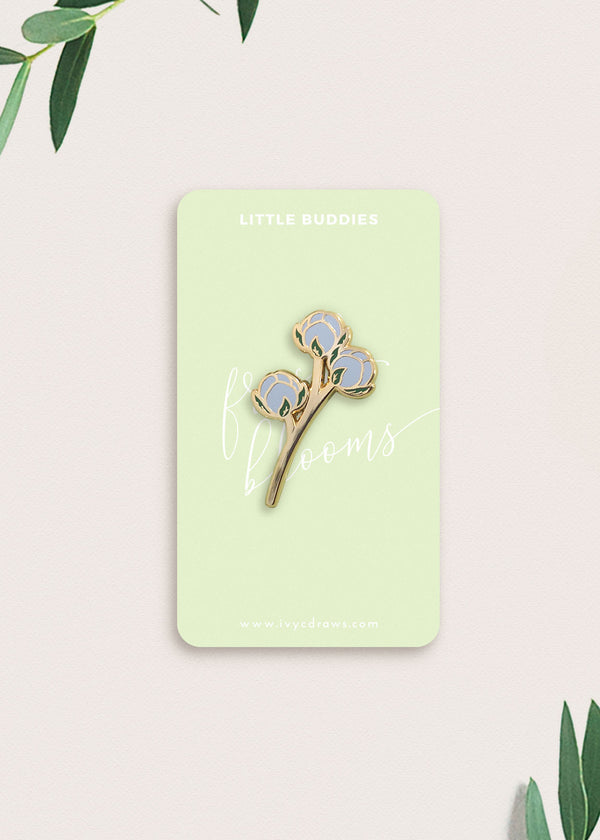 Blue Little Buddies Flower Pin