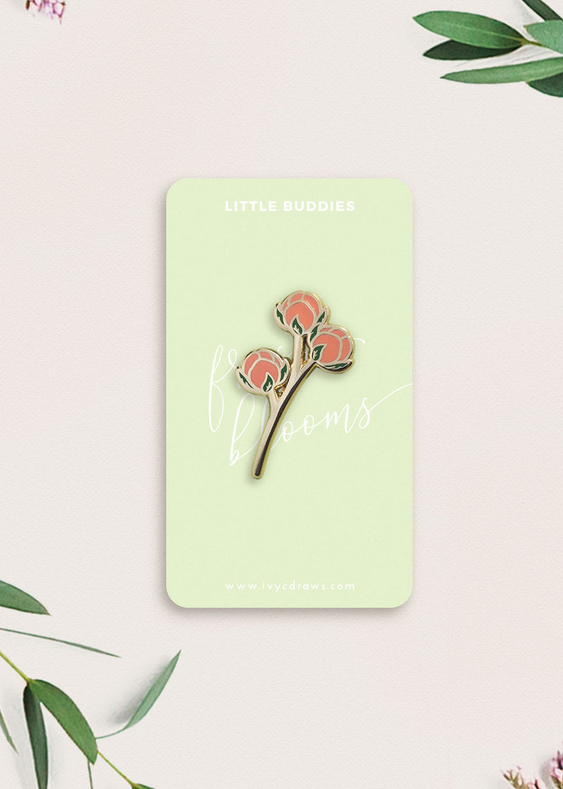 Pink Little Buddies Flower Pin