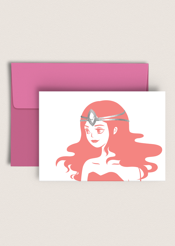 Greeting Card: Elegant Girl