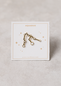 Aquarius Constellation Pin