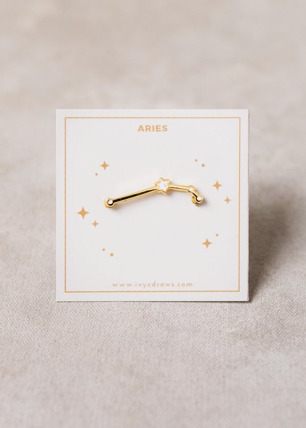 Aries Constellation Pin