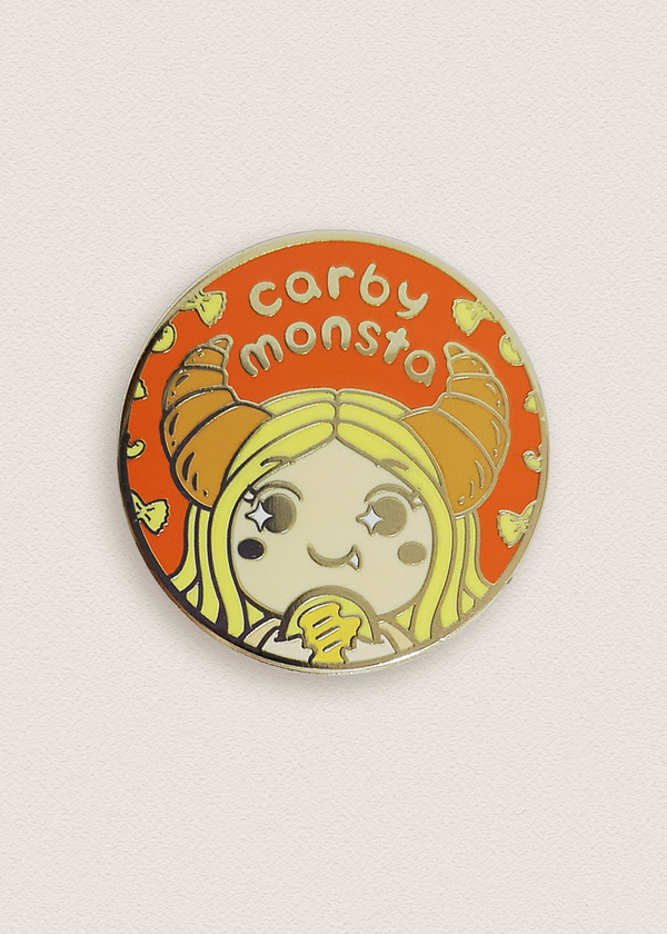 Carby Monsta Circle Pin