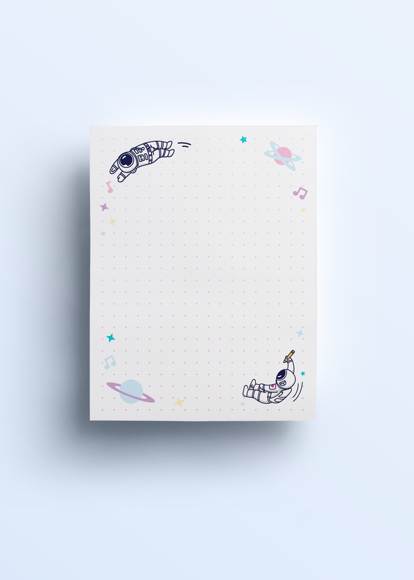Cosmic Stranger Dotted Notepad