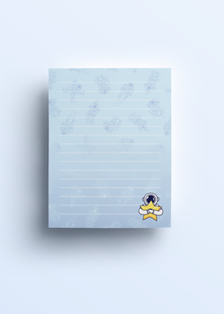 Cosmic Stranger Lined Notepad