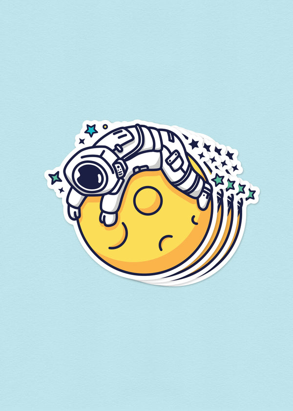 Cosmic Stranger Belly On The Moon Sticker