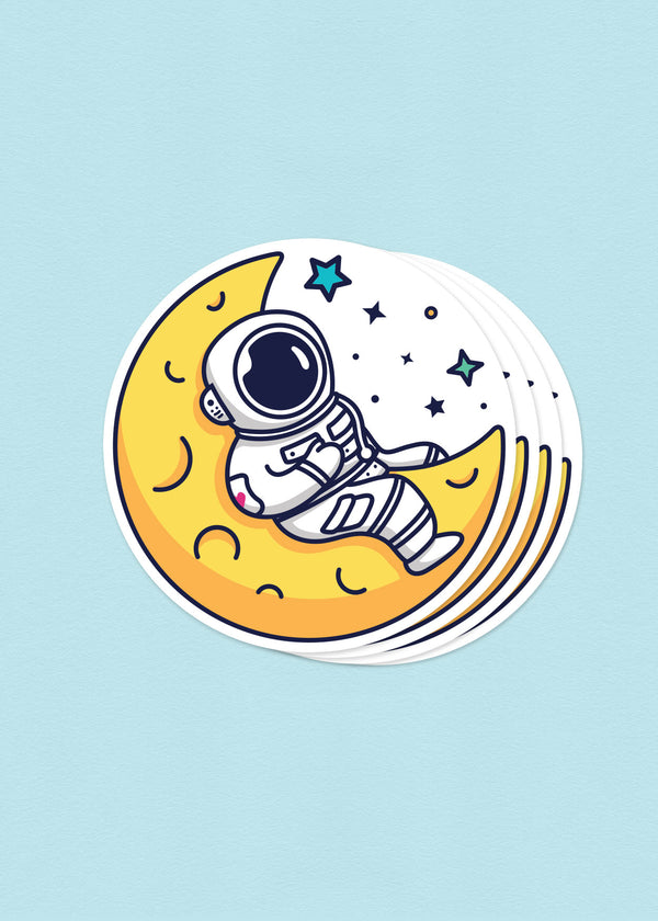 Cosmic Stranger Crescent Moon Sticker