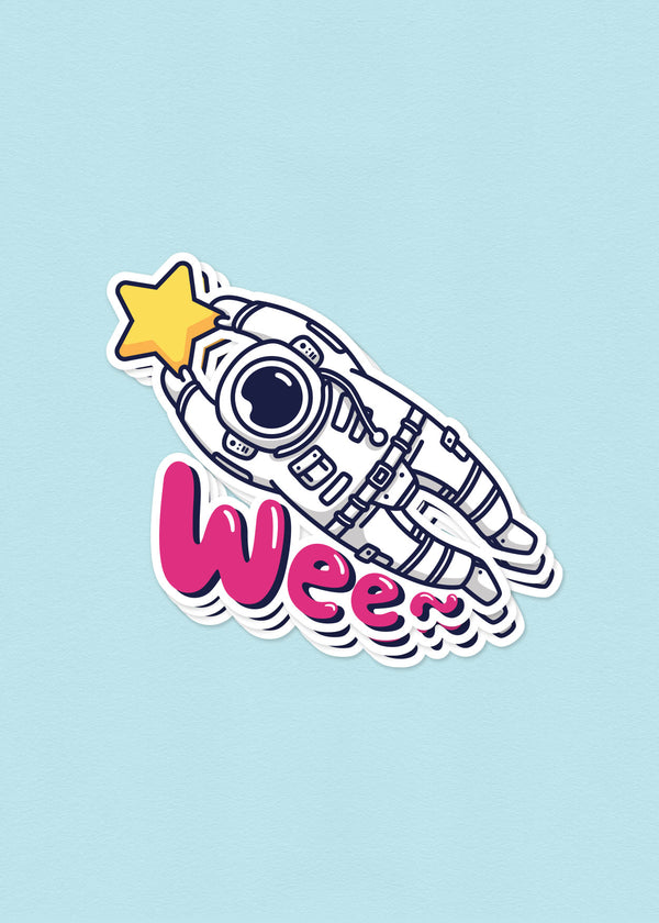 Cosmic Stranger Wee Sticker
